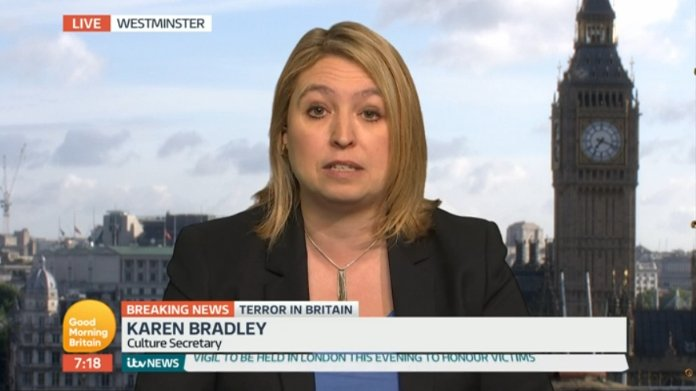 Karen Bradley just had a nightmare encounter with @piersmorgan. Repeatedly asked if no of armed cops up or down. Refused to say https://t.co/dOiTQXbYTU