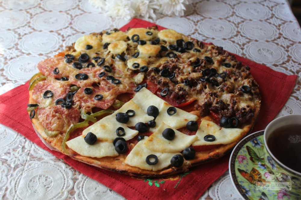 Домашняя пицца рецепт видео