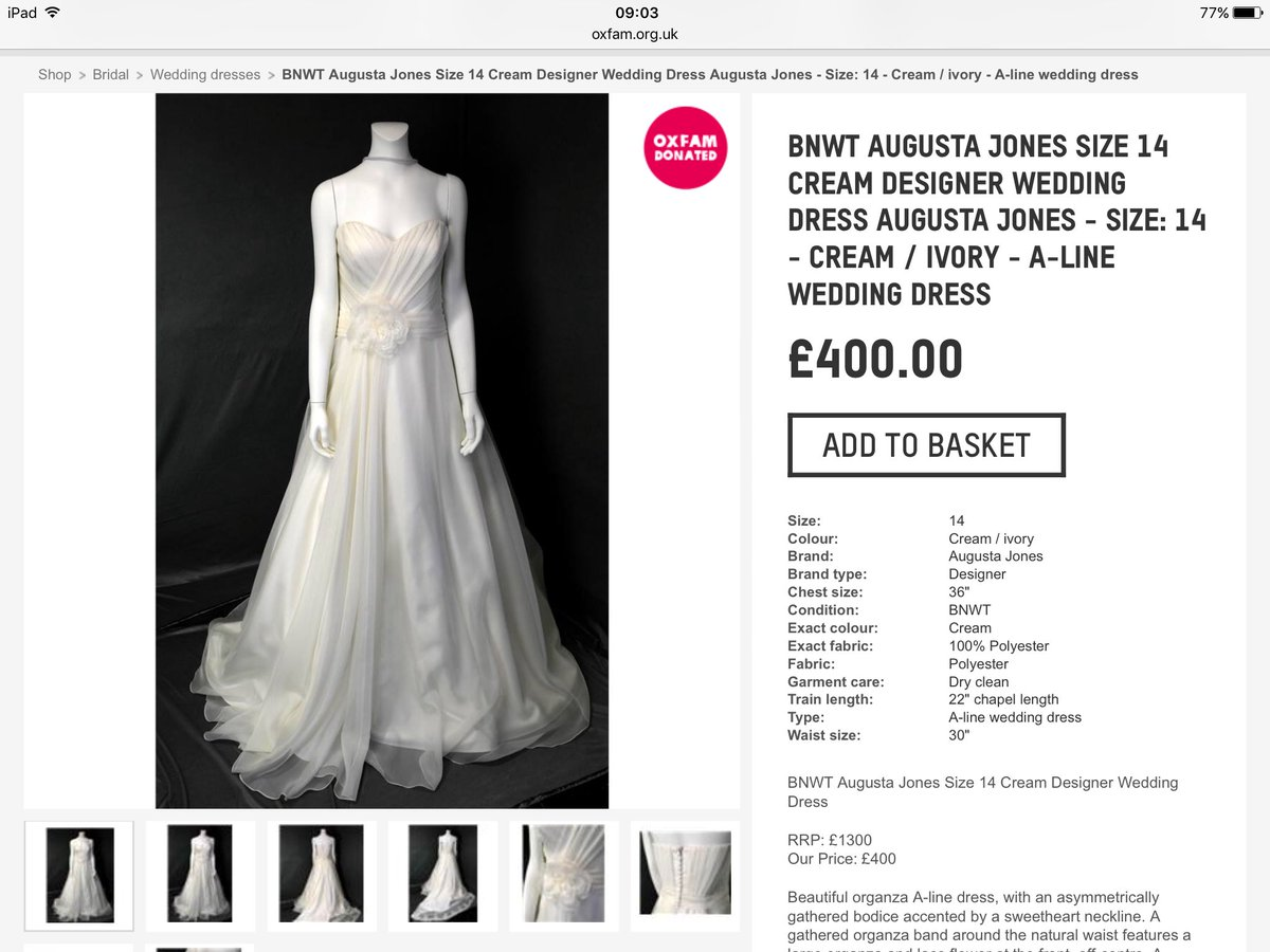 Wedding Dresses Oxfam. Perfect We Raised Over For Oxfam Which Is An ...
