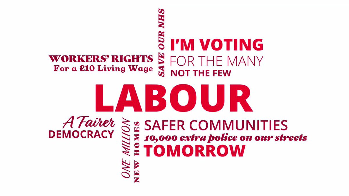 If you're voting Labour tomorrow, show your support and RT this ↓ #VoteLabour #ForTheMany https://t.co/O6PpWRHTqP