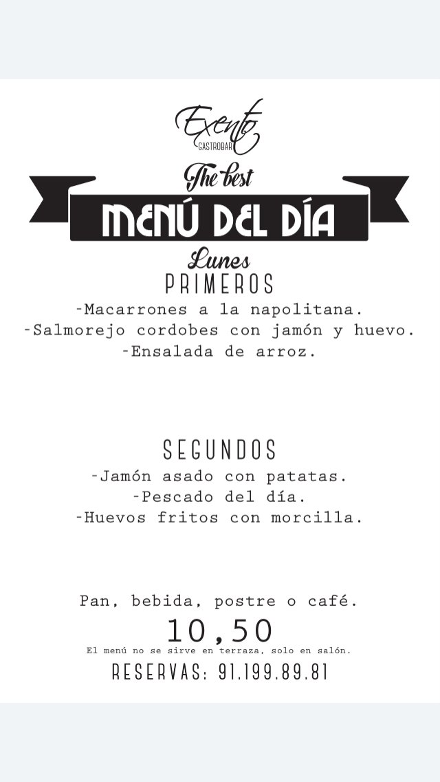 Exento Restaurante On Twitter Comenzamos Con El Horario De