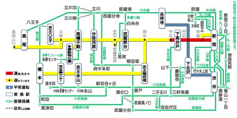 明大前 駅 から 新宿 駅