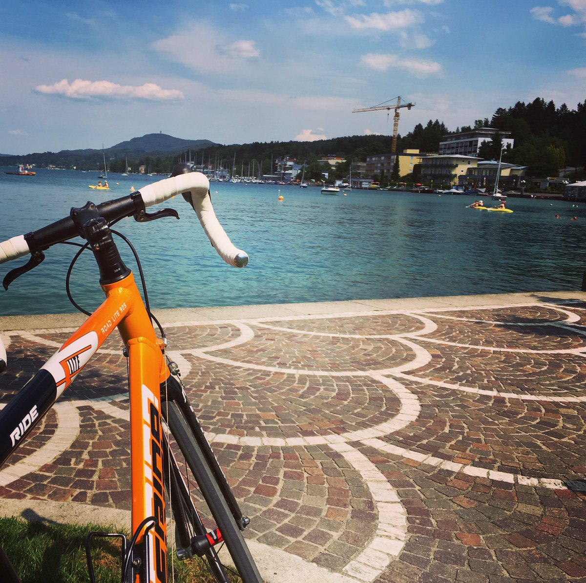 Trainings #session done #klopeinersee #wörthersee #rundum #retour #pushthetempo #withmyboy #kärnten #cycling<br>http://pic.twitter.com/v2XLKGdMCu