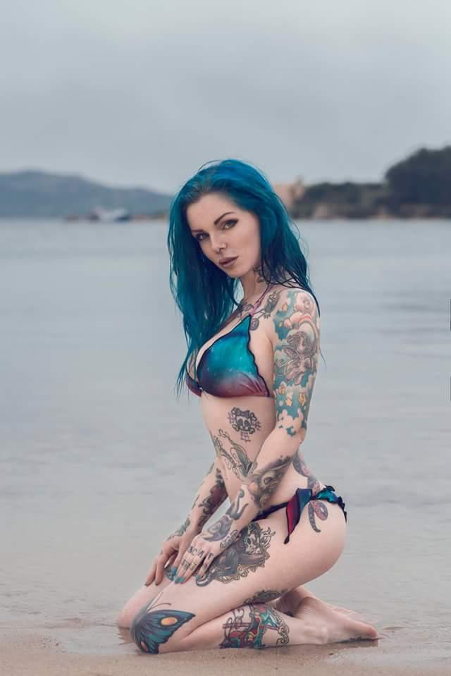 Naked alternative girl with perky tits