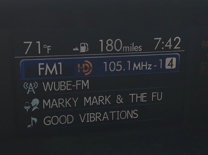 Happy Birthday Mark!! B105 was playing a throwback for you!!