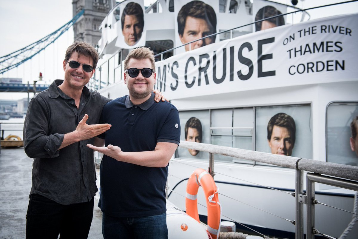 Join me and @JKCorden on the Cruise Ship this Wednesday on the @LateLateShow. #LateLateLondon