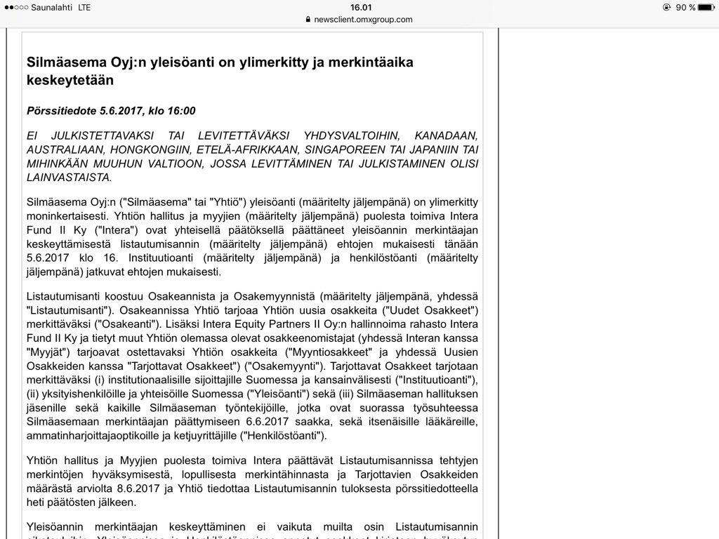 Silmäaseman tilinpäätös, hallituksen toimintakertomus sekä selvitys hallinto- ja ohjausjärjestelmästä vuodelta 2019 on julkaistu