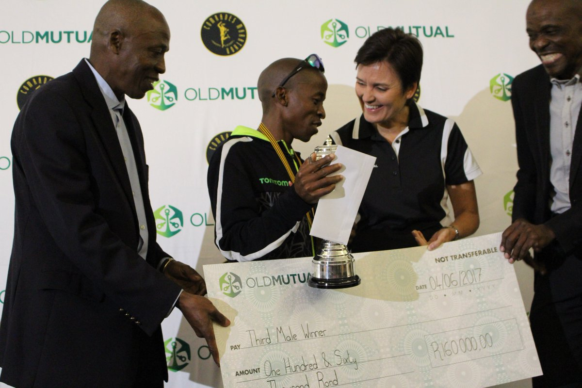 Comrades marathon on twitter 2015 champion gift kelehe was comrades marathon on twitter 2015 champion gift kelehe was awarded 3rd place and received the trophy at the exclusive oldmutualsa prize giving breakfast negle Choice Image