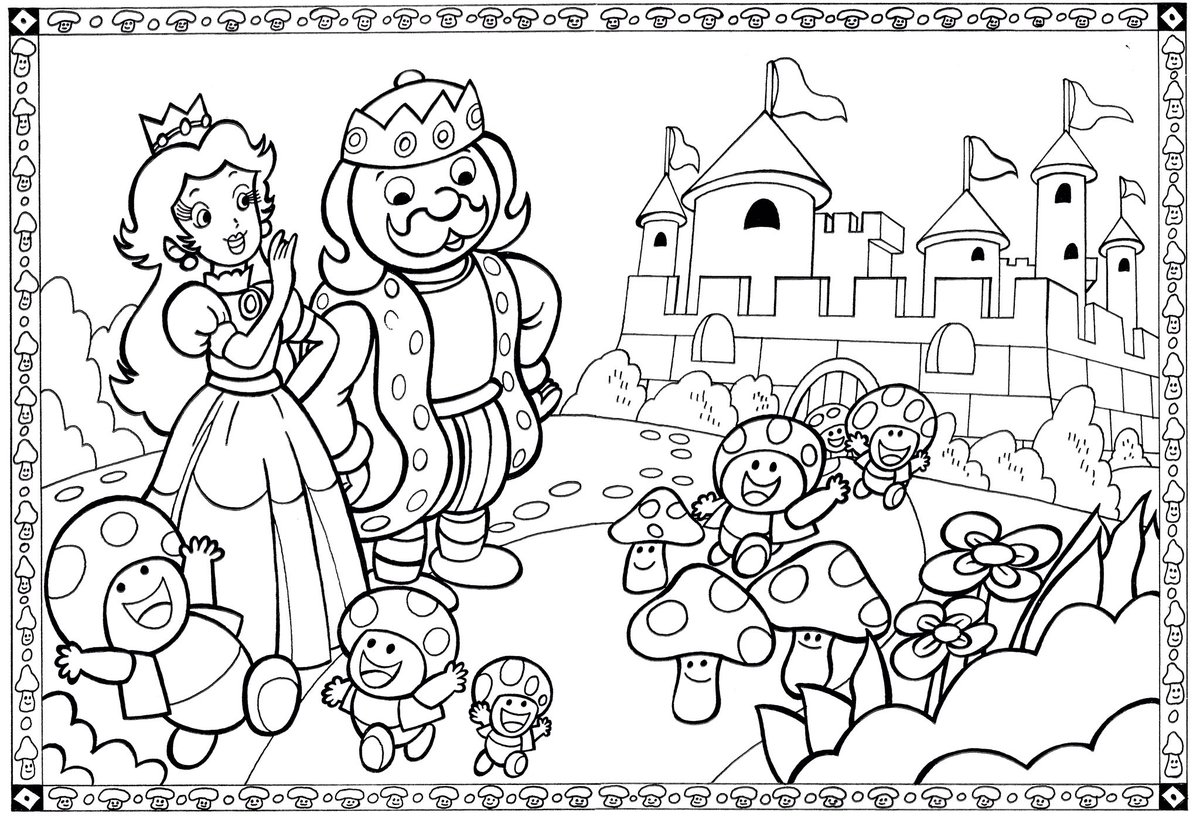 VideoGameArtTidbits On Twitter High Resolution Scans From A 1989 Super Mario Bros Coloring Book