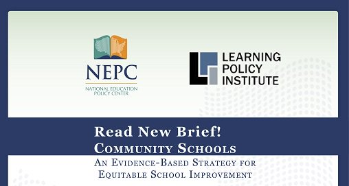 @LDH_ed talks about NEW brief on #Communityschools by @LPI_Learning   and @NEPCtweet with Julia Daniels!  Read > https://t.co/zBj5jR57hP https://t.co/gn6pPufOw7