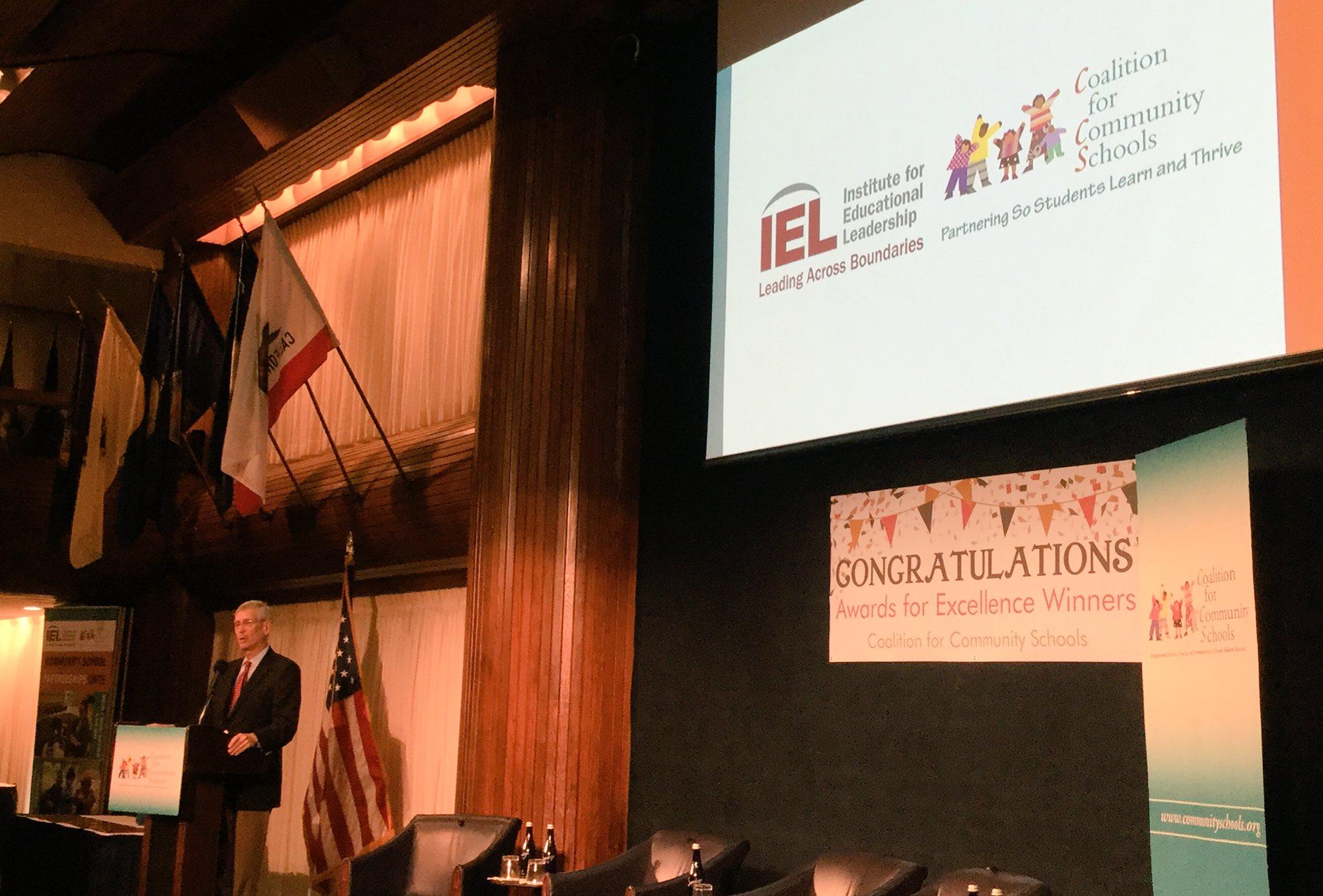 .@MartyBlankIEL opens the @CommSchools #communityschools symposium and awards ceremony. https://t.co/ckXsM9UAHe