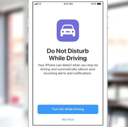 New Apple 'Do Not Disturb While Driving' mode works automatically to help you avoid using phone while driving; sends auto texts. #WWDC17