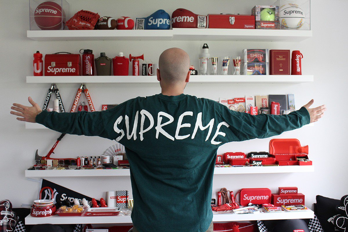 highsnobiety on twitter check out joe migraine 39 s over 100k supreme collection. Black Bedroom Furniture Sets. Home Design Ideas