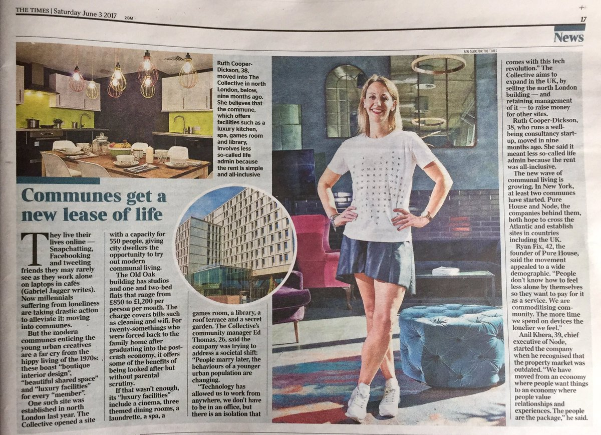 Excited to be mentioned @thetimes  https://www. thetimes.co.uk/article/commun es-get-a-new-lease-of-life-knljcp9vj &nbsp; …  #millennials #communes #coliving #community<br>http://pic.twitter.com/DoZ5TU2R2Z