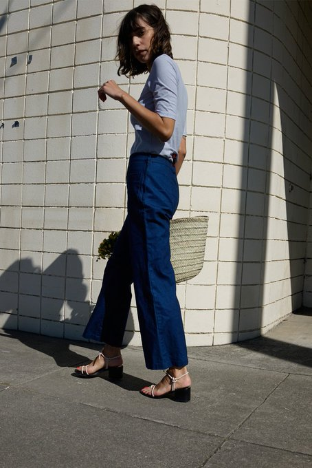Indigo Patch Pocket Flares