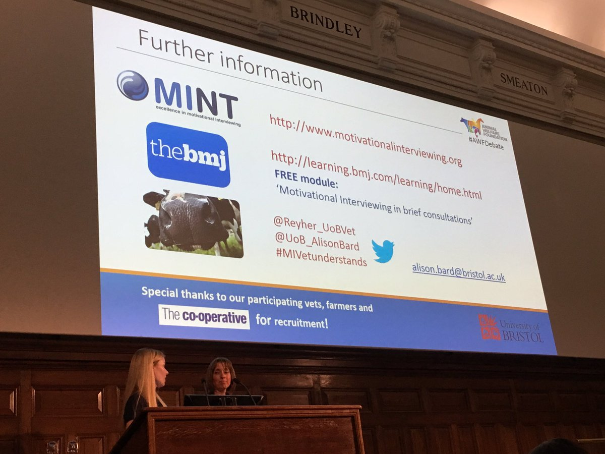 Well worth vets having a look into #MotivationalInterviewing Some useful links &amp; contacts here! #MIVetunderstands @ #AWFDebate 2017<br>http://pic.twitter.com/n6gh8Ua6tb