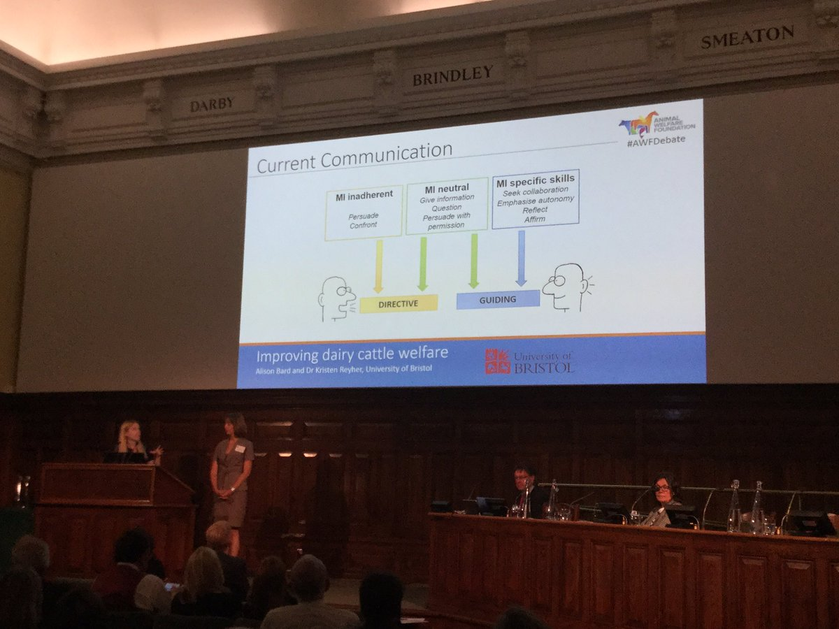 #awfdebate Motivational interviewing looks set to take veterinary communication by storm - bring on the change! <br>http://pic.twitter.com/c57dRjoC9G
