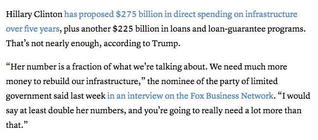 Trump infrastructure plan 2016, Trump infrastructure plan 2017. https://t.co/dlNwhz5aon