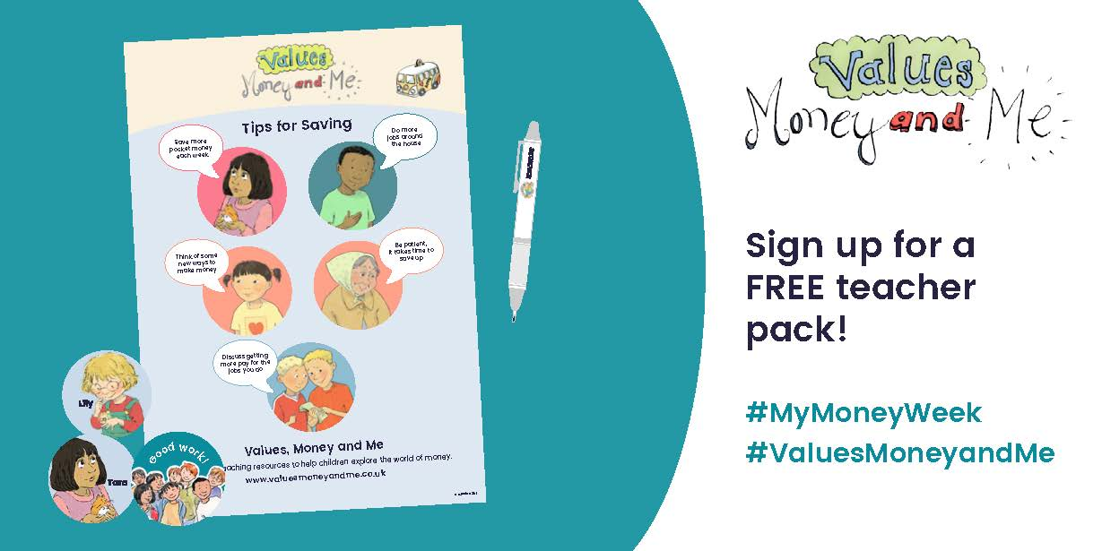 In celebration of #MyMoneyWeek we're giving away FREE teacher packs inc. an A2 poster and stickers.#ValuesMoneyAndMe https://t.co/kItYz26Twb https://t.co/V49xkCR2Ly
