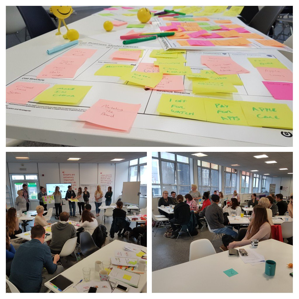 Great first day of #RacetoMarket. Looking forward to tomorrow! @UWTSDStudents #startups #skills #networking #businessmodelcanvas https://t.co/3Ref8p7SL3