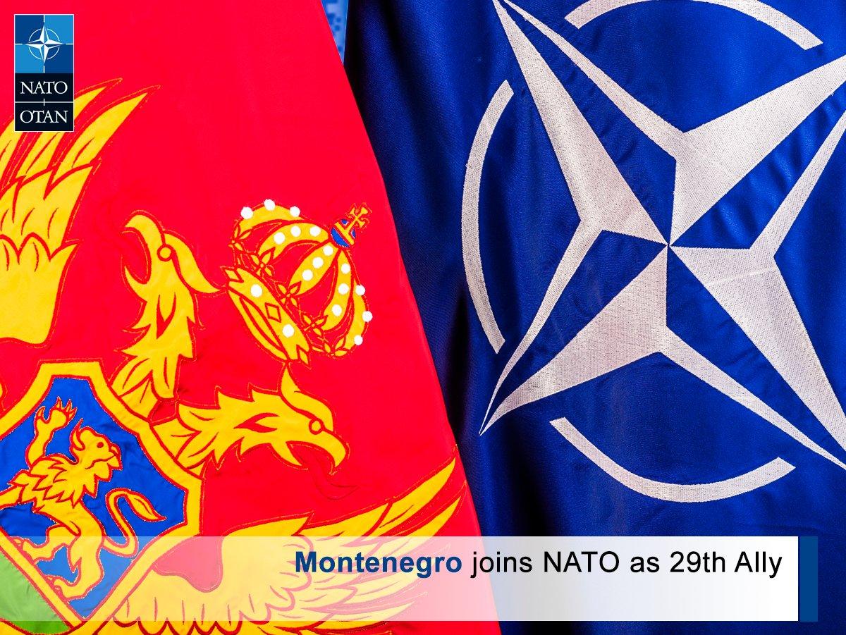 #Montenegro joins #NATO as our 29th Ally: https://t.co/CplnPRj9dU https://t.co/3UMpsGf4UZ