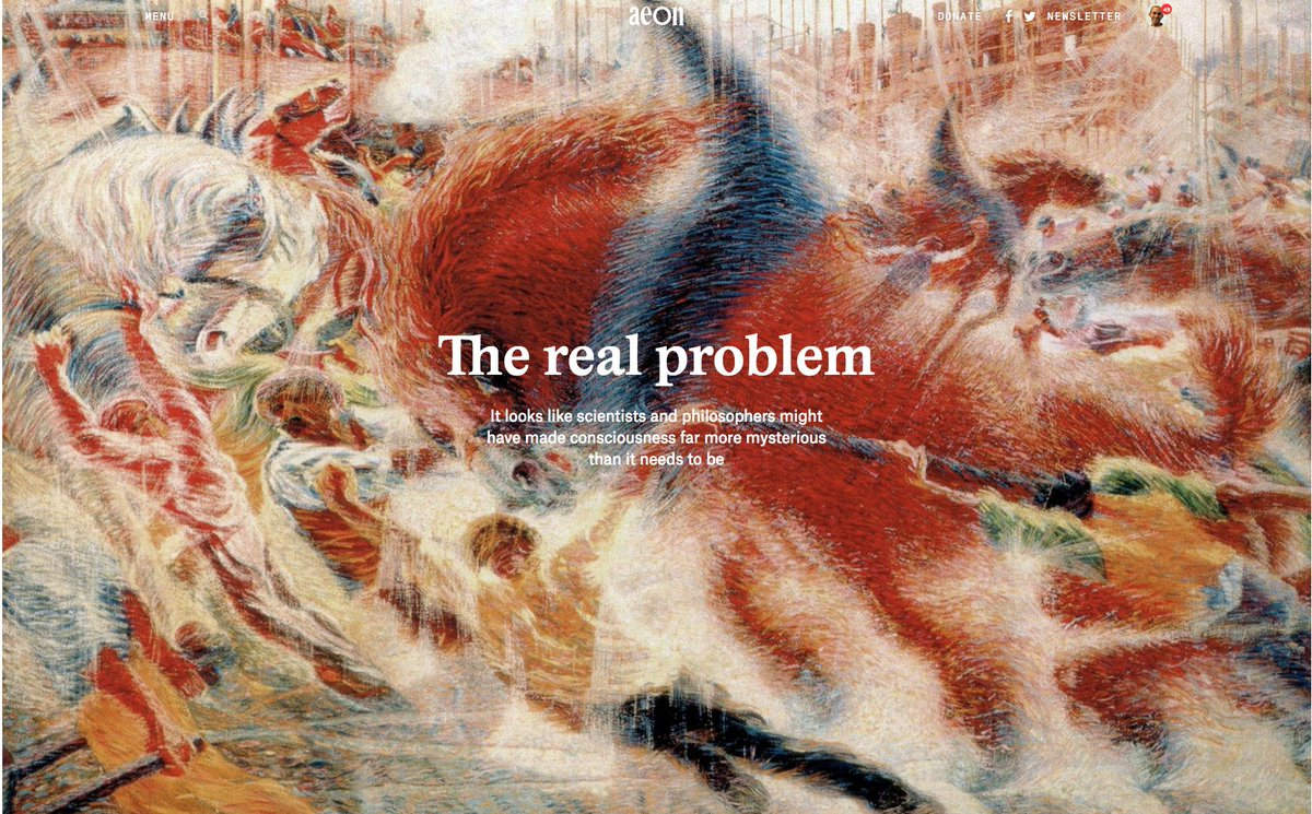anil seth on consciousness the real problem my   my essay in aeon co aeon co essays the hard problem of consciousness is a distraction from the real one pic com zhqw1pskmm