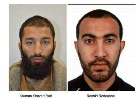 Полиция Лондона назвала имена двух из трех террористов