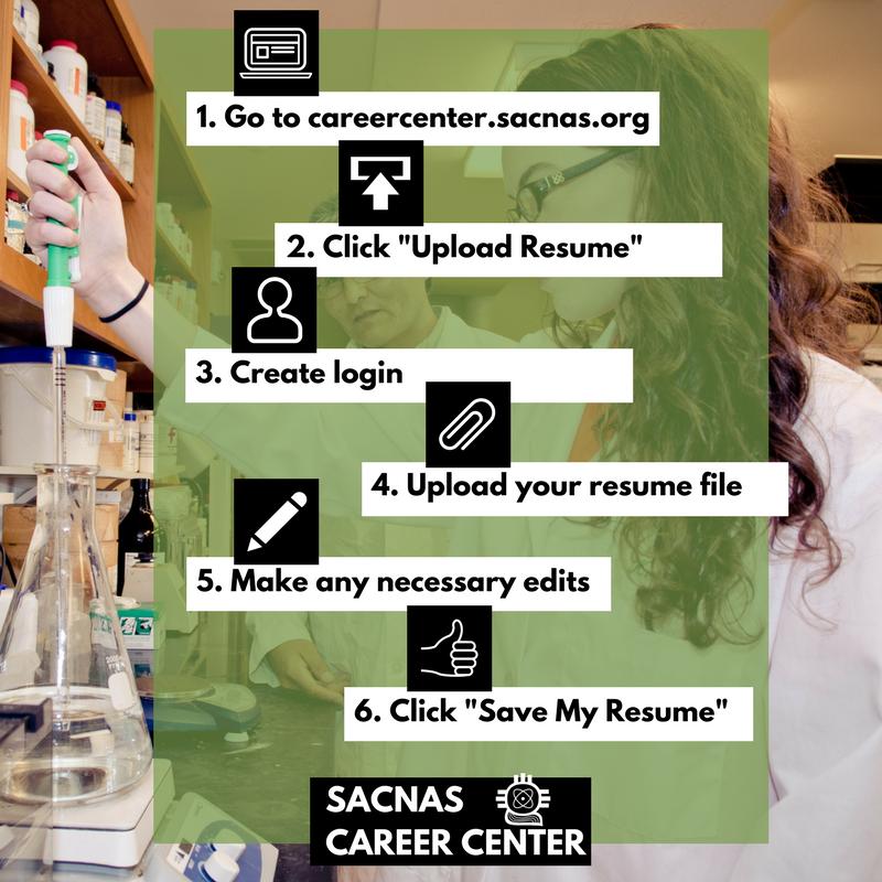 sacnas on twitter students time to polish your resume upload