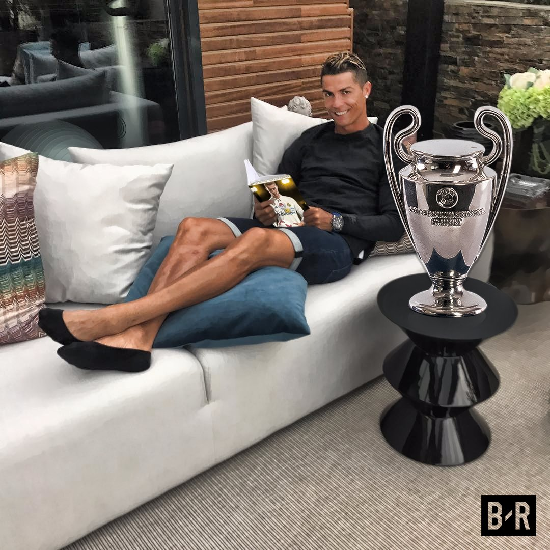 Saturday Champions League Trophy Monday FIFA18 Cover Not Bad Cristiano