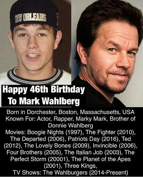 Happy birthday Mark Wahlberg....