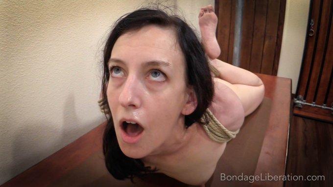 Elise Back in Rope - @EliseGraves and Jackson #tightrope #bondage #elbowtie #suffering  https://t.co/PIiJzrdmf0