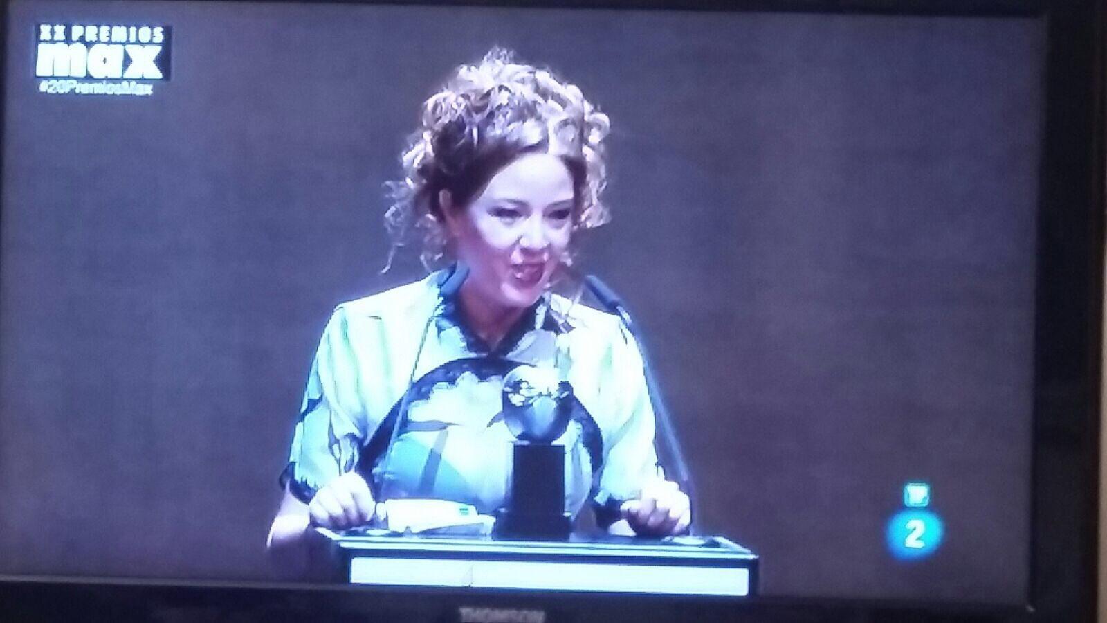 ❤️❤️❤️❤️ese pedazo de actriz @Noasantamaria enhorabuena merecidísino ese MAX !!! Love youuuuu https://t.co/I83DmREAzk
