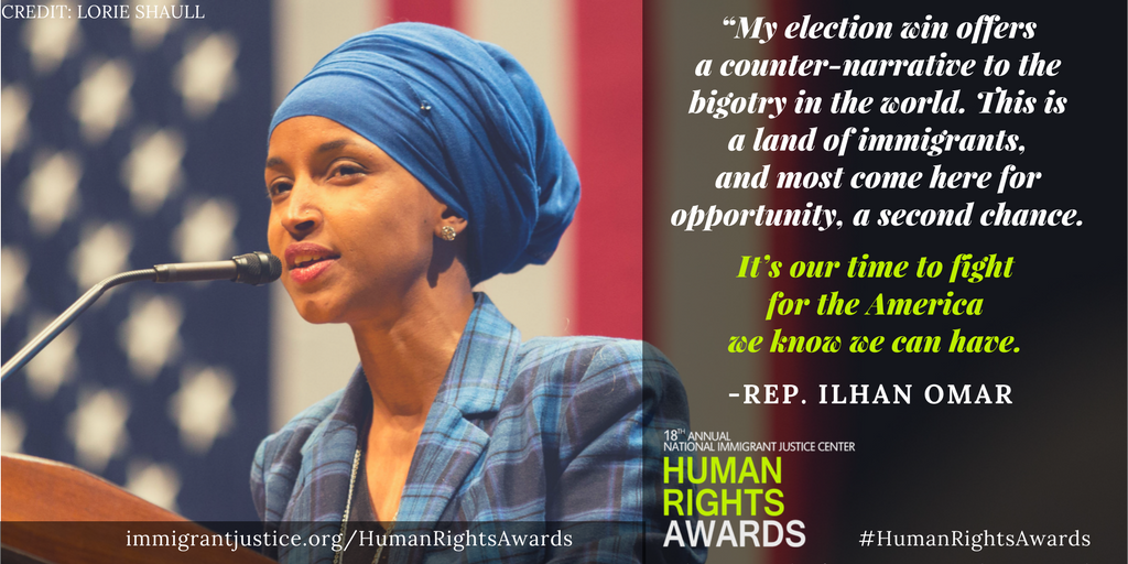 It's almost here! Thrilled 4 NIJC's #HumanRightsAwards tomorrow 6/6 honoring Rep @IlhanMN, @Aon_plc, @reedsmithllp, and Dr. Zaher @sahloul. https://t.co/L3g4F9RUKm
