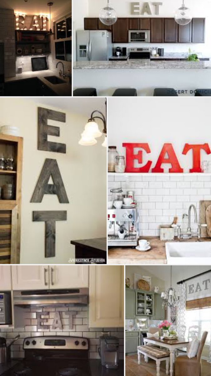 I shake with anger, fear & confusion when someone has an EAT sign in their kitchen