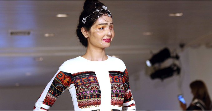 The Powerful NYFW Moment When an Acid Attack Survivor Took the Runway