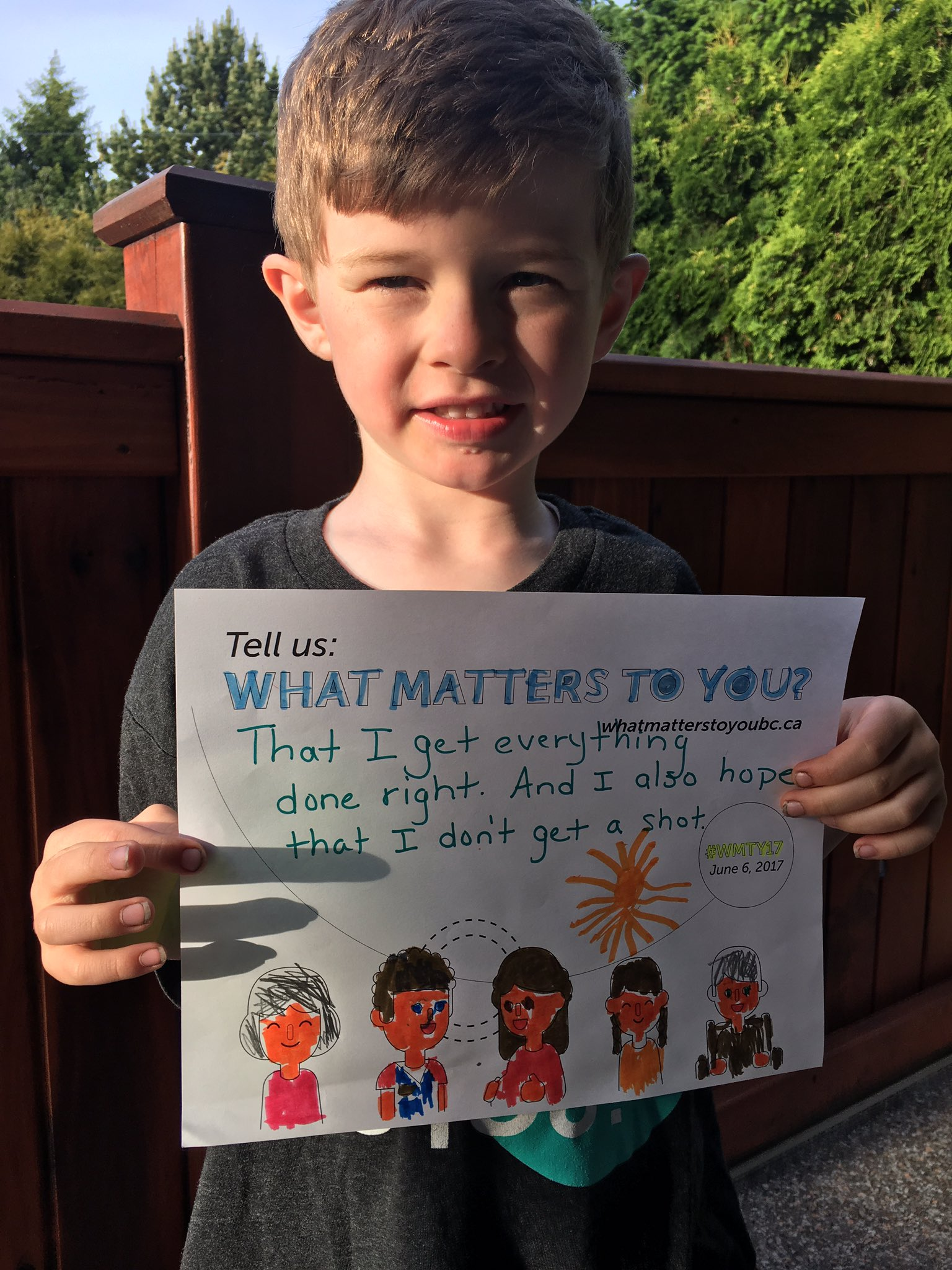 Young pts have lots to say about #WMTY17  Here's my son's response shortly after his 1st ED visit @PatientVoicesBC @BCPSQC @VanIslandHealth https://t.co/izZV0CZ53k