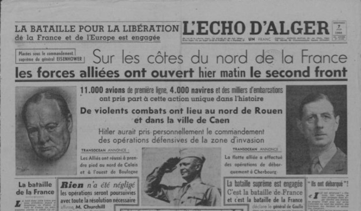 Retronews On Twitter 6 Juin 1944 Debarquement Allie En Normandie Revue De Presse A Derouler Ww2 2gm Https T Co Kd28nycuwf Dday
