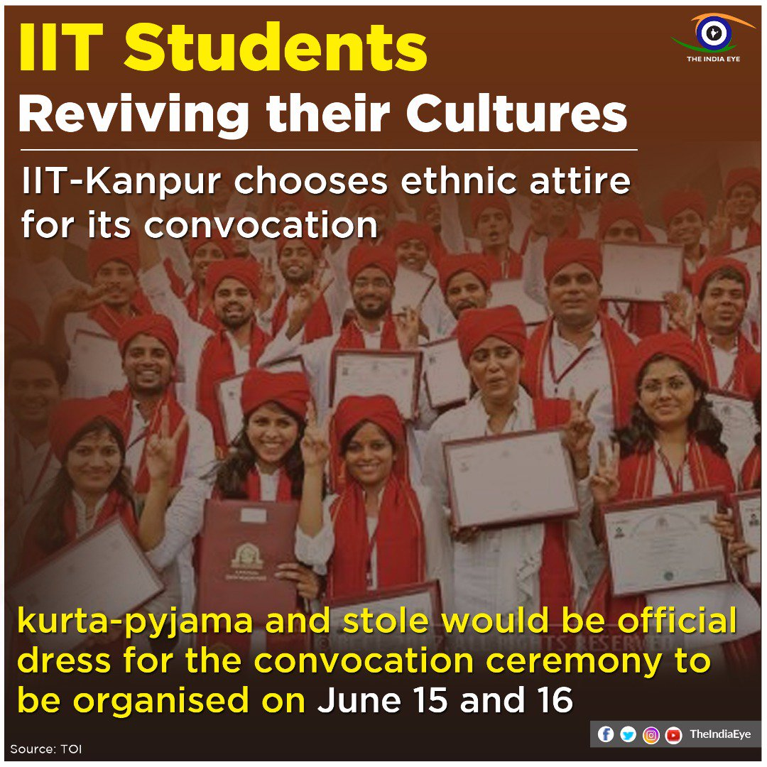 "BJP ANDHRA PRADESH on Twitter: ""IIT Kanpur chooses ethnic wear for  convocation. Signs of a changing India, a more confident India.… """