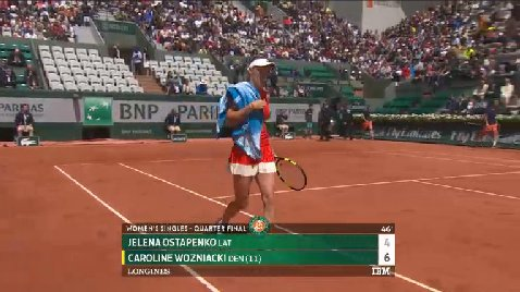 Live Tennis On Twitter First Set Wozniacki 6 4 After Working So
