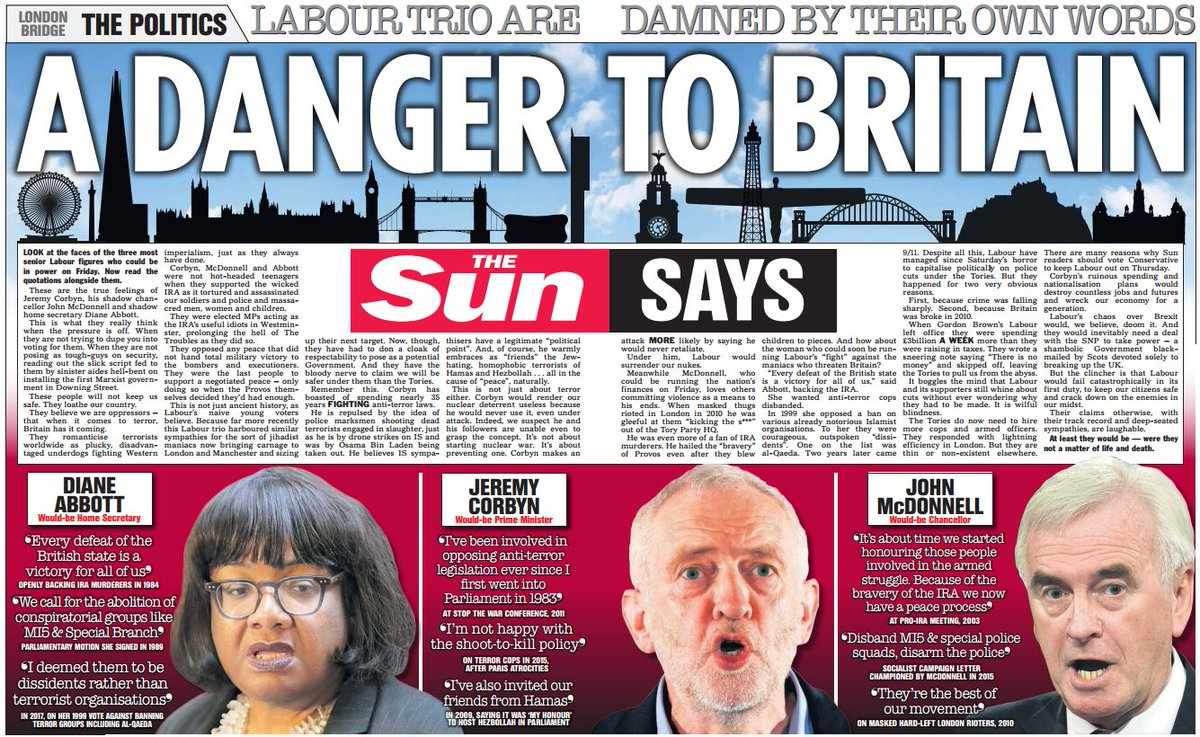 Today's @TheSun Says: Labour's leadership team are a danger to Britain - in their own words... https://t.co/2WGhjv8Cbb
