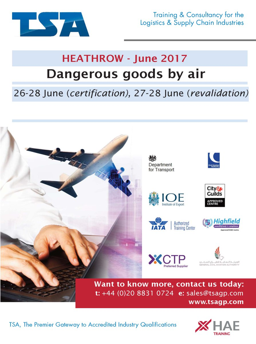 Tsa ltd on twitter dangerous goods by air certification and tsa ltd on twitter dangerous goods by air certification and revalidation dates are now available call us now aviation elearning courses xflitez Images