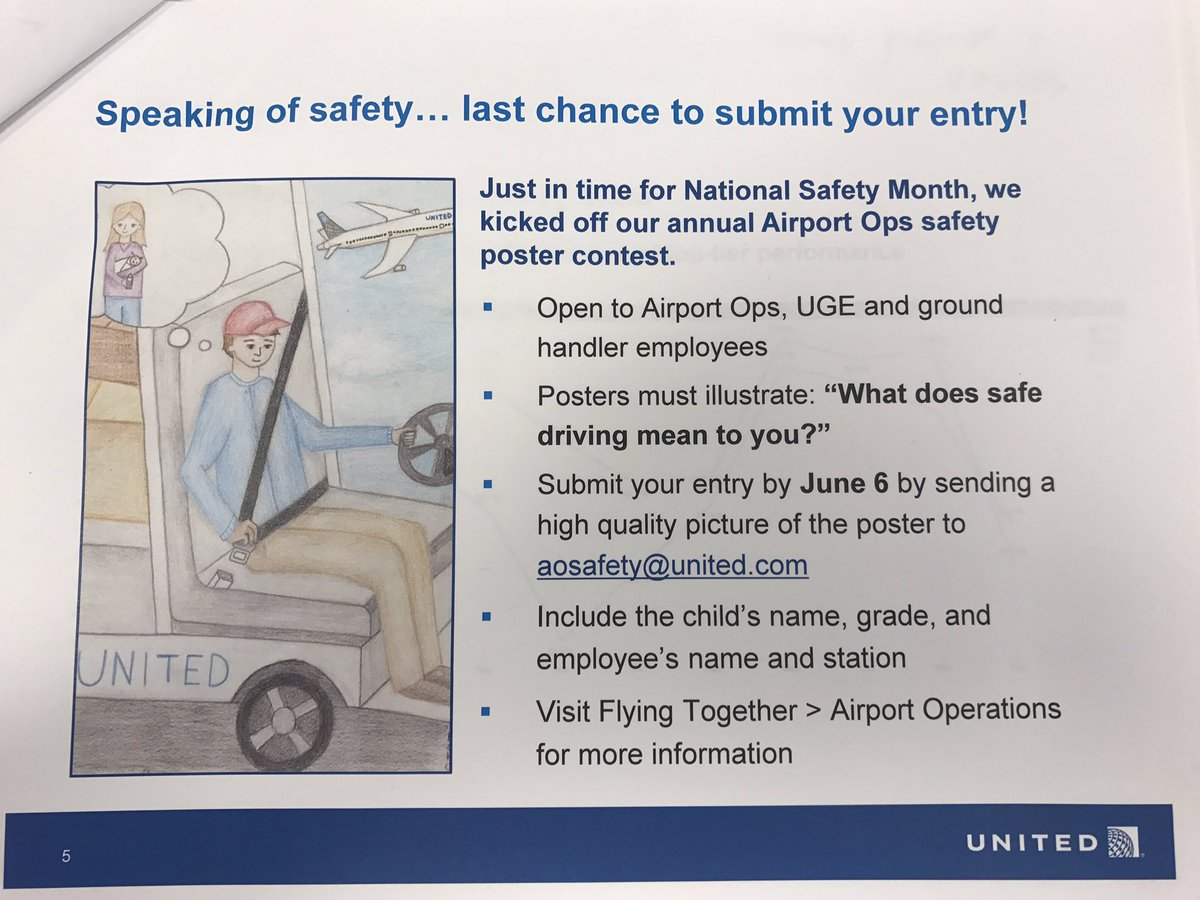 New deadline June 12 for our annual Safety poster contest! @weareunited #beingUnited #WhyIloveAO