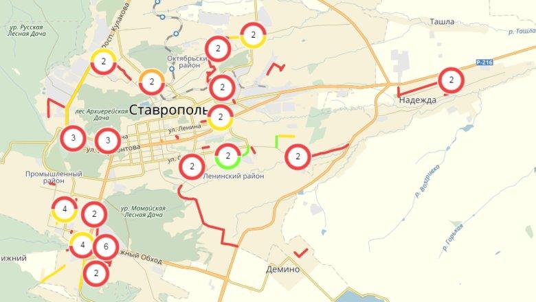 где находиться ставрополь показать на карте