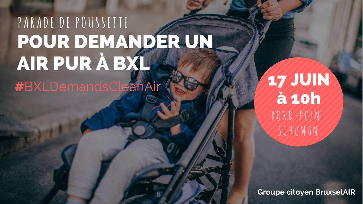 Pollution de l'air: les enfants sont les premières victimes. Participez à notre parade de poussettes le 17/6 pour un air pur à Bruxelles ! https://t.co/FSzYgOTp5i