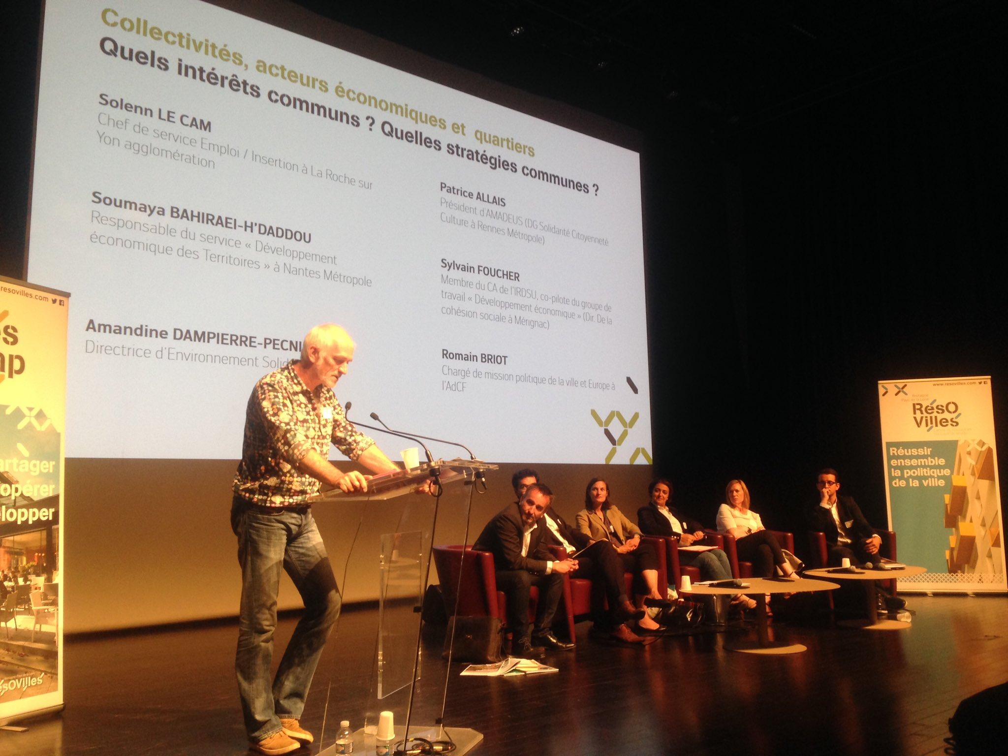 @irdsu et Amadeus à l'animation  de l'atelier dev eco/collectivités/quartiers à #CitesCAP @resovilles : coordonner, adapter, innover... https://t.co/yv0BORc09h