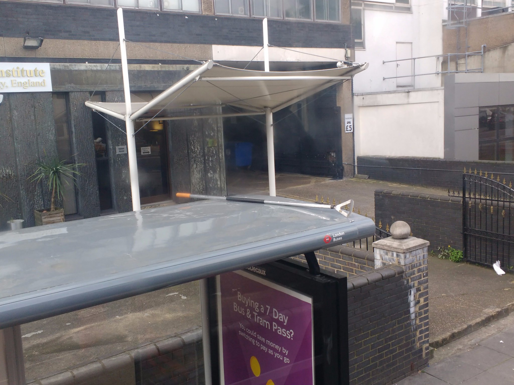 RT @AlisonDennison: @almurray  Hoe down on top of bus stop, Romford Road.  Is that some sort of cowboy party? https://t.co/GVOTvht51z