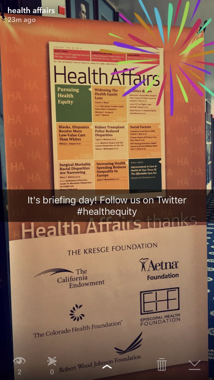 The best Tuesdays are @Health_Affairs briefing Tuesdays. #healthequity https://t.co/etcOtCju6Z