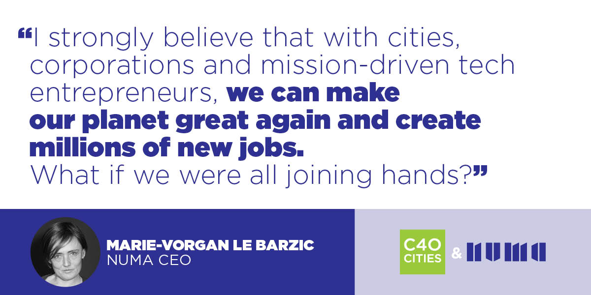 Cities companies and mission-driven tech entrepreneurs can make our planet great again and create millions of new jobs @MVLeBarzic #DataCity