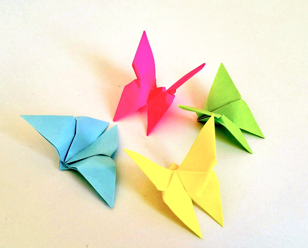 Cherry On Twitter Origami Schmetterlinge Falten Httpst