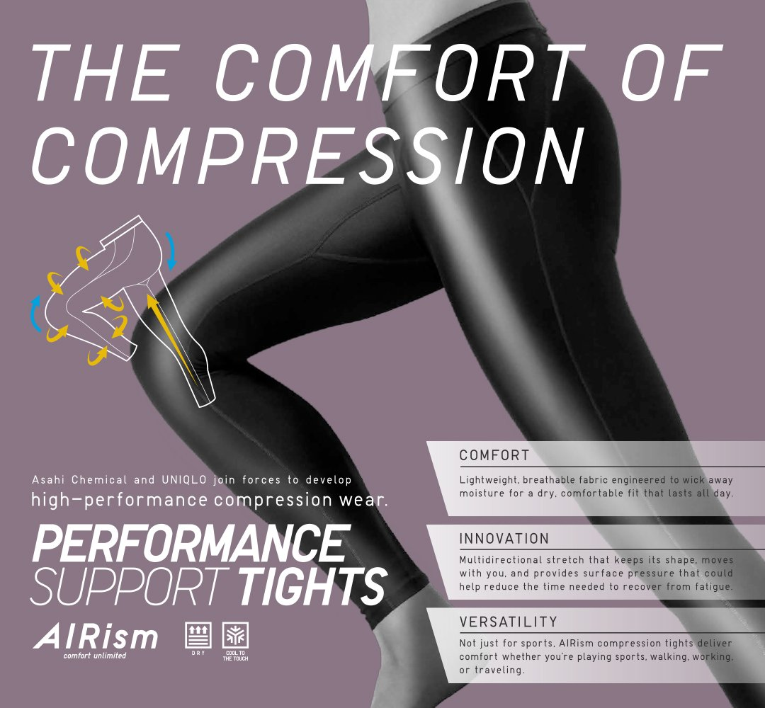 eecc7e8792f7f Step up your game while feeling fresh in our new Women's and Men's #AIRism Performance  Support Tights. $29.90pic.twitter.com/3VIs6DcrTf
